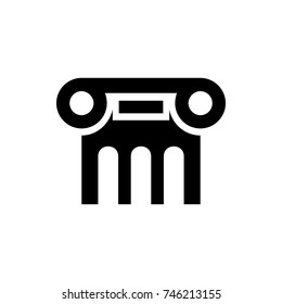 Greek column icon illustration isolated vector sign symbol