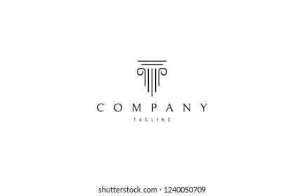 Greek column vector logo image