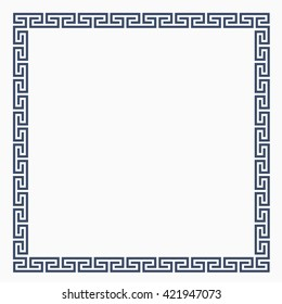 Greek decorative frame for design. Vector EPS10