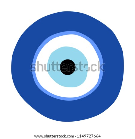 Greek Evil Eye Vector Symbol Protection Stock Vector Royalty Free