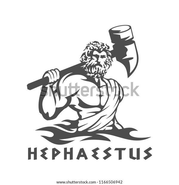 Greek God Hephaestus Signs Symbols Stock Image