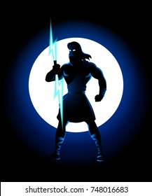 Greek god  vector silhouette series, Zeus, the Father of Gods and men