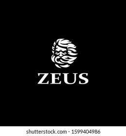 Greek god Zeus. A man with a gray beard. Vector illustration.