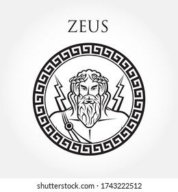 Greek God Zeus Vector Illustration