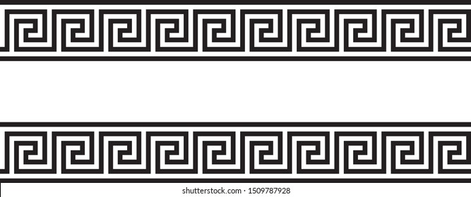 Greek key. Greek motives texture border or frame
