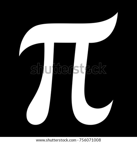 Greek Letter Pi Symbol Mathematical Constant Stock Vector Royalty