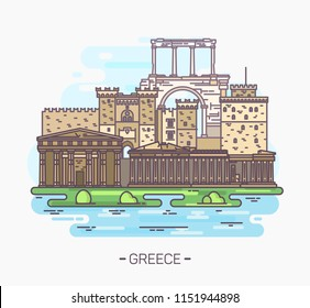 Greek monuments and landmarks. Acropolis,Parthenon