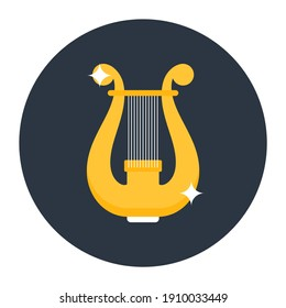 Greek musical instrument, icon of harp vector