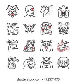 Greek mythological creatures icon
