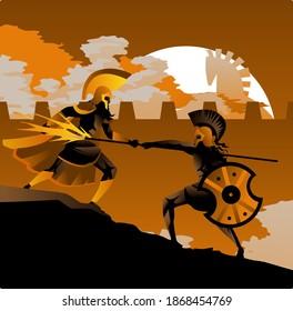 greek mythology Diomedes warrior on troy war fighting Ares god