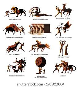 greek mythology hercules heracles 12 labours