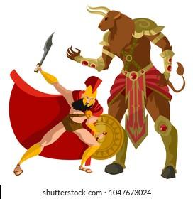 greek mythology minotaur monster