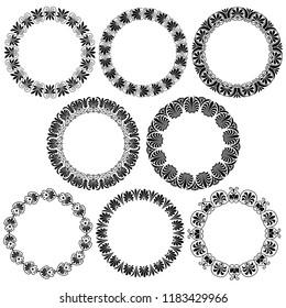 Greek ornamental  circle frames