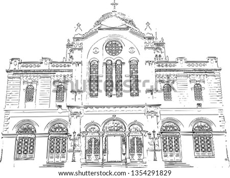 Greek Orthodox Temple (vector)