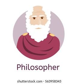Greek Philosopher  - vector illustration