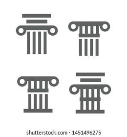 Greek and roman pillar. Architecture greek column icon
