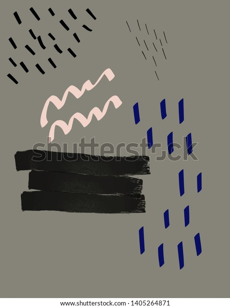 Greek Sculpture Modern Abstract Style Surreal Stock Vector