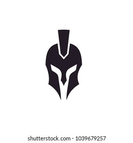 Greek Sparta / Spartan Helmet Warrior logo design