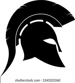greek spartan helmet hoplite vector for your design or logo
