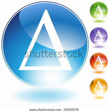Greek Symbol Delta Crystal Stock Vector Royalty Free 33028978