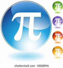 greek symbol : pi letter crystal