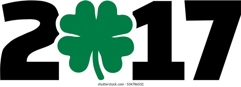 Green 2017 with shamrock
