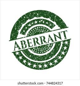 Green Aberrant rubber stamp