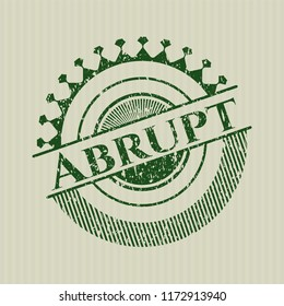 Green Abrupt distress grunge style stamp