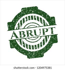 Green Abrupt distressed grunge stamp