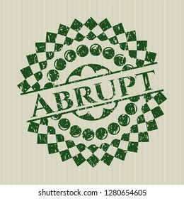 Green Abrupt distressed grunge style stamp