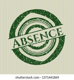 Green Absence distress rubber stamp with grunge texture