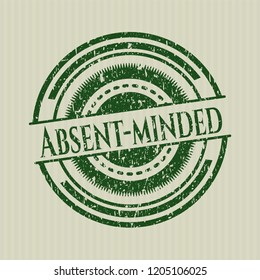 Green Absent-minded grunge style stamp