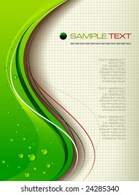 green abstract background - vector illustration