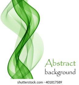Green abstract background with wave