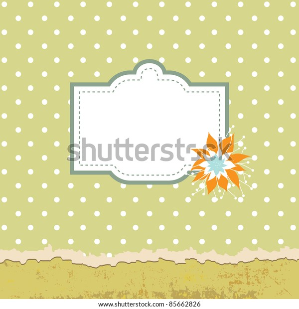 Green abstract card with place for text. Vector illustration