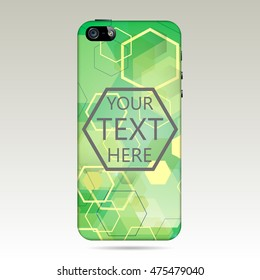 Green Abstract cover smartphone . vector illustration