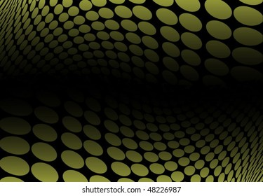 Green abstract dot tunnel