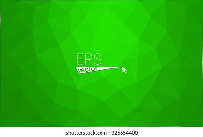 Green abstract geometric rumpled triangular low poly style gradient illustration graphic background. Vector polygonal design for your business.