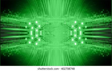 green abstract hi speed internet technology background illustration. eye scan virus computer. vector