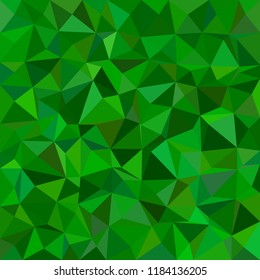 Green abstract irregular triangle tiled background - vector illustration from low-poly triangles