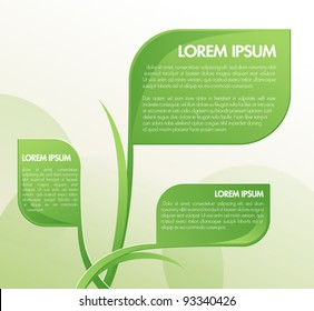 Green Abstract Layout Design for text and paragraphs