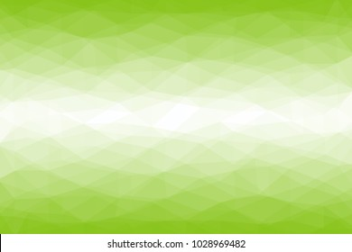Green abstract low-poly banner. Vector 3D design template. Geometric spring background.
