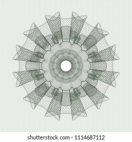 Green abstract rosette