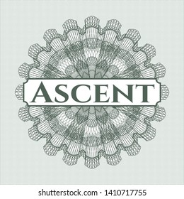 Green abstract rosette with text Ascent inside