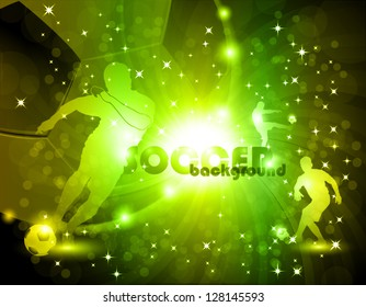 Green abstract soccer background vector illustration