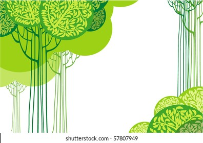 Green abstract. Vector.