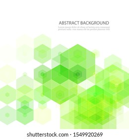 Green Abstract Vector Background Green Hexagons Science Background
