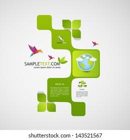 green abstract web design