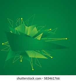 Green abstraction with triangles