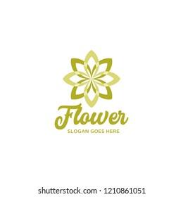 Green Abstrat Flower Logo Design